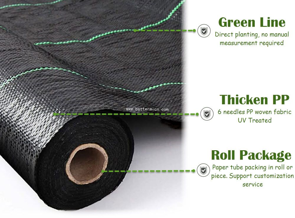150gsm Weed Control Fabric 4m Wide Weed Membrane